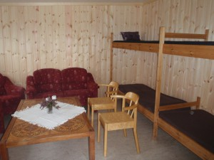 Det er 4 sengeplasser i Storhøbua.