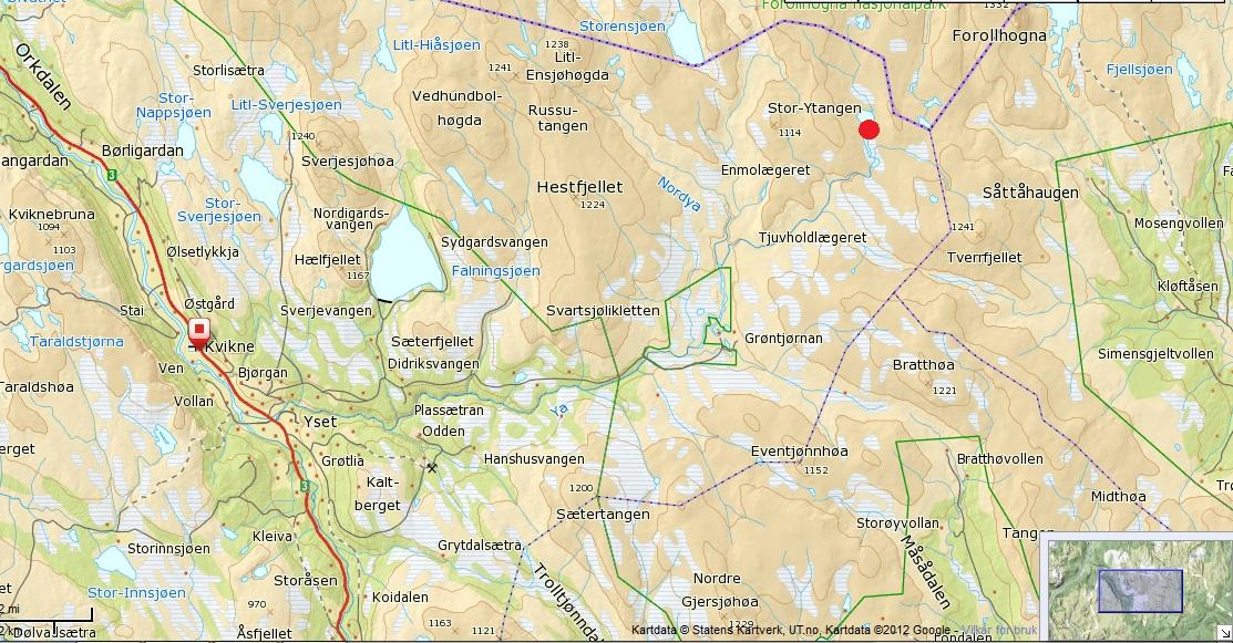 knutshø kart Y Tjønnbua | Kvikne Utmarksråd knutshø kart
