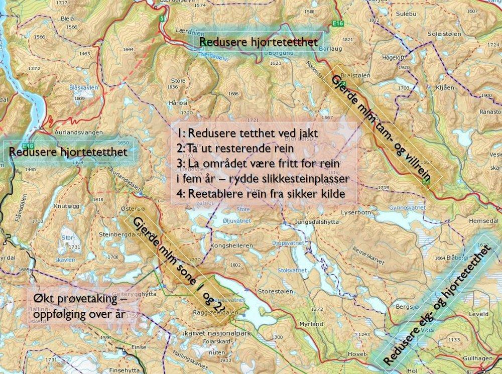 Anbefalte tiltak. Klikk for stort bilde. Figur: Bjørnar Ytrehus/NINA
